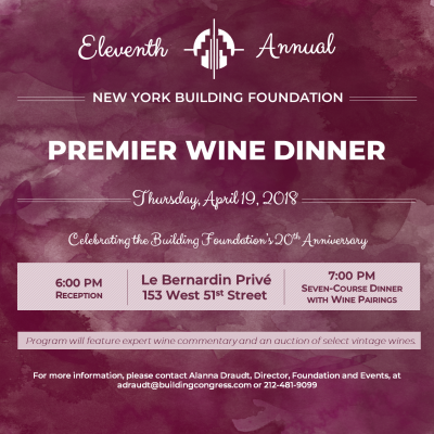 Building Foundation 11th Annual Premier Wine Dinner